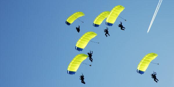 Parachutes at Skydive Tecumseh