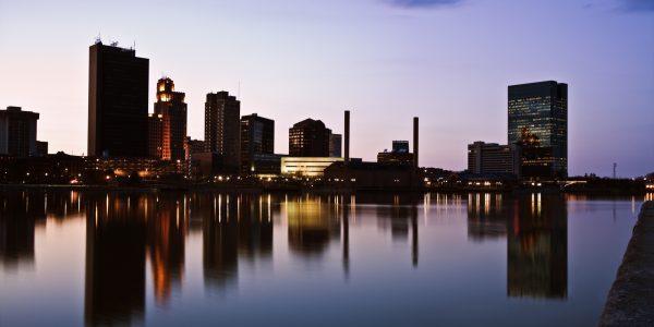 Late evening in Toledo, Ohio