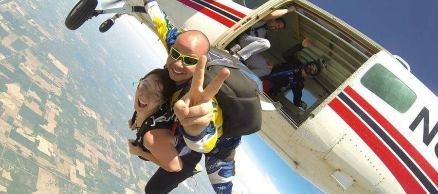Tandem skydiving with Skydive Tecumseh