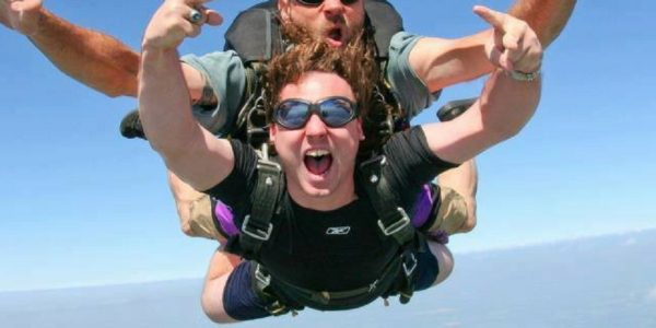 Tipping in Skydiving