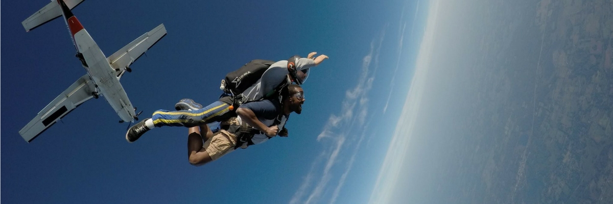 Feeling weightless in freefall with Skydive Tecumseh