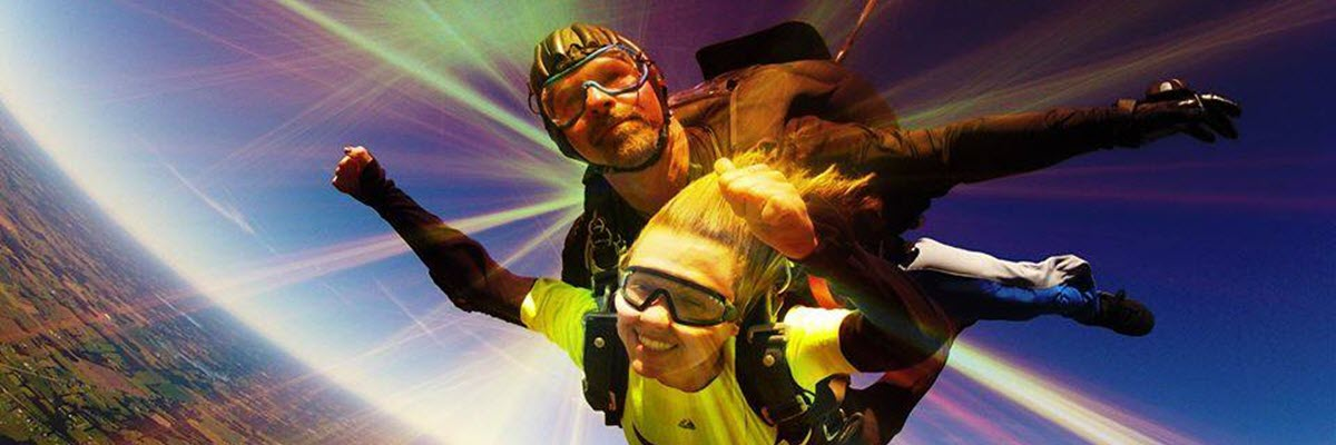 is skydiving scary