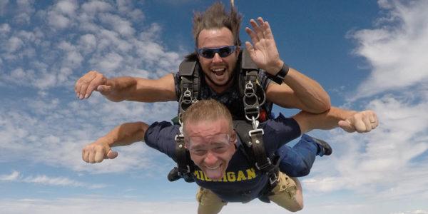 skydiving afraid of heights