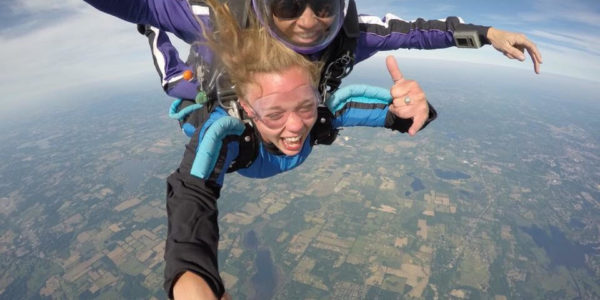 Skydiving in Michigan. Amber Barney Skydiver