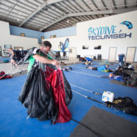 Packing at Skydive Tecumseh