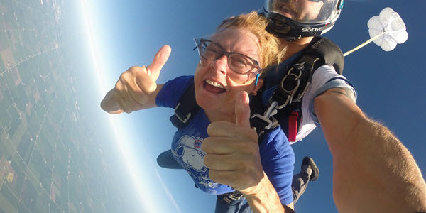 Skydiving with Glasses or Contacts