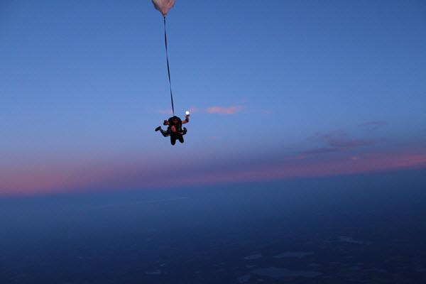 Tandem Skydiving At Night, Skydive Tecumseh