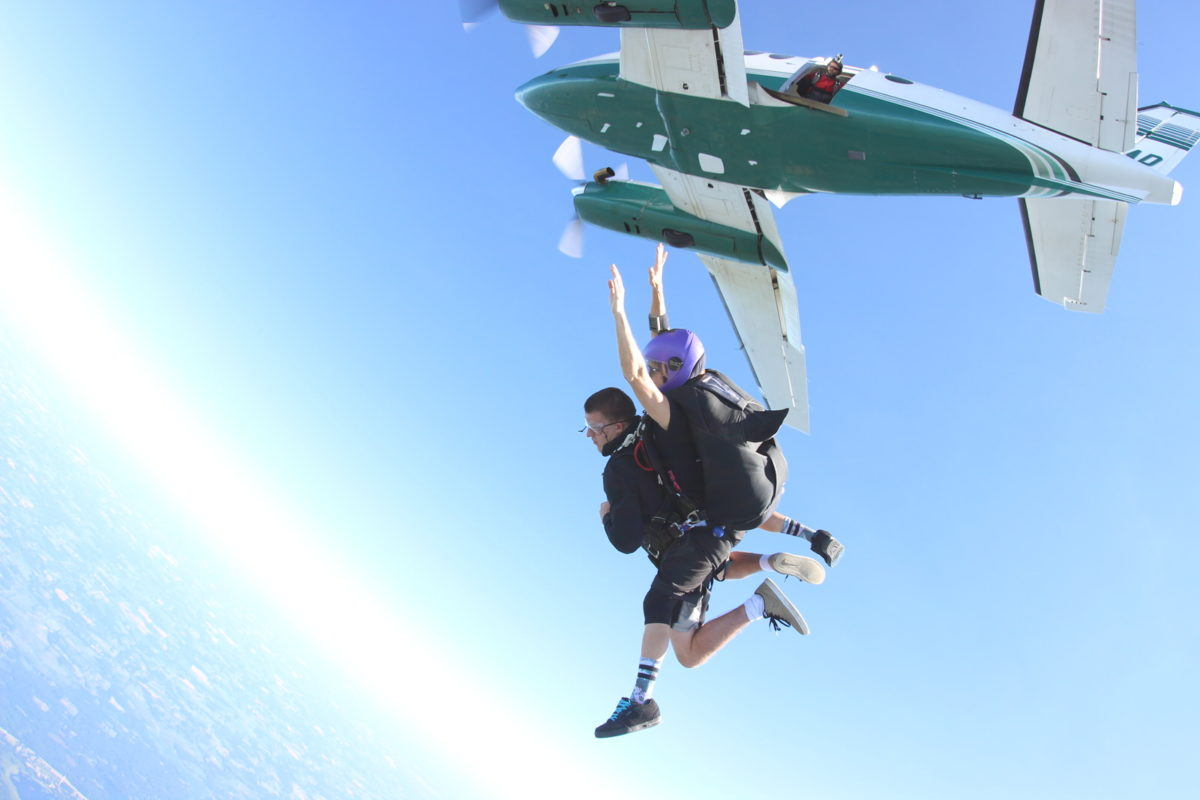 Skydiving is about freedom - Skydive Tecumseh