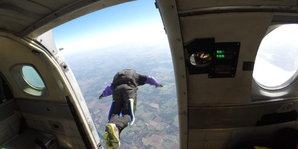 highest skydive record