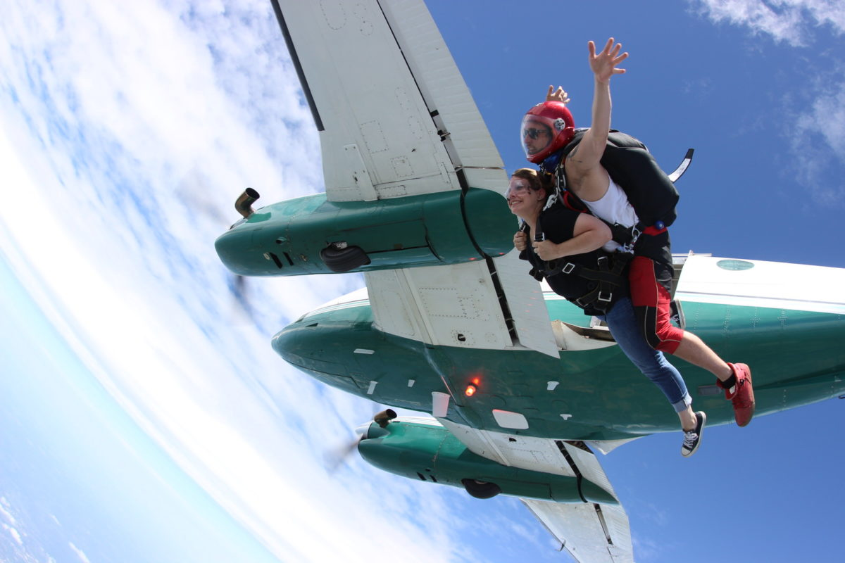 tandem skydiving at Michigan's Premier Skydiving Center